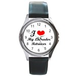 dog-photo Round Metal Watch