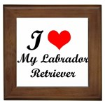 I Love My Labrador Retriever Framed Tile