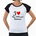 I Love My Labrador Retriever Women s Cap Sleeve T