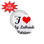I Love My Labrador Retriever 1.75  Button (10 pack)