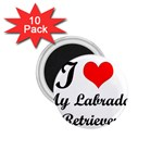 I Love My Labrador Retriever 1.75  Magnet (10 pack)