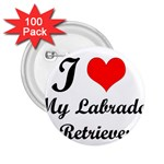 I Love My Labrador Retriever 2.25  Button (100 pack)