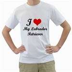 I Love My Labrador Retriever White T-Shirt