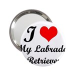 I Love My Labrador Retriever 2.25  Handbag Mirror