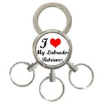 I Love My Labrador Retriever 3-Ring Key Chain