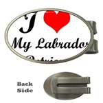 I Love My Labrador Retriever Money Clip (Oval)