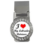 I Love My Labrador Retriever Money Clip (CZ)
