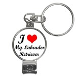 I Love My Labrador Retriever Nail Clippers Key Chain