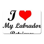 I Love My Labrador Retriever Magnet (Rectangular)