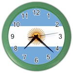 Argentine Flag Color Wall Clock