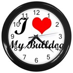 I Love My Beagle Wall Clock (Black)