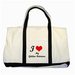 I Love My Beagle Two Tone Tote Bag