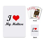 I Love My Beagle Playing Cards Single Design Back