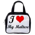 I Love My Beagle Classic Handbag (One Side)
