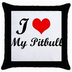 I Love My Beagle Throw Pillow Case (Black)
