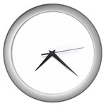 Happy Hour Wall Clock (Silver)