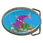 Purple Hammie Fish Belt Buckle