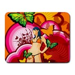 Vector butterfly women Mouse pad