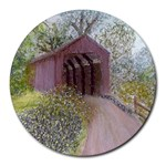 Coveredbridge300 Round Mousepad