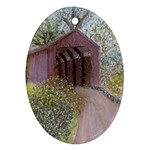 Coveredbridge300 Ornament (Oval)
