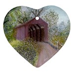 Coveredbridge300 Ornament (Heart)