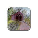 Coveredbridge300 Rubber Square Coaster (4 pack)