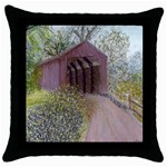Coveredbridge300 Throw Pillow Case (Black)