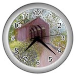 Coveredbridge300 Wall Clock (Silver)