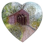 Coveredbridge300 Jigsaw Puzzle (Heart)