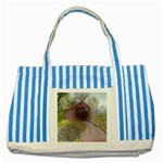 Coveredbridge300 Striped Blue Tote Bag