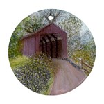 Coveredbridge300 Round Ornament (Two Sides)