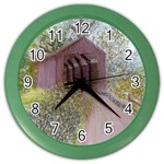 Coveredbridge300 Color Wall Clock