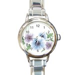 Flower028 Round Italian Charm Watch