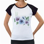 Flower028 Women s Cap Sleeve T