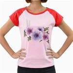 Flower028 Women s Cap Sleeve T-Shirt
