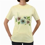 Flower028 Women s Yellow T-Shirt