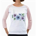 Flower028 Girly Raglan