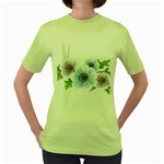 Flower028 Women s Green T-Shirt