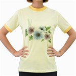 Flower028 Women s Fitted Ringer T-Shirt