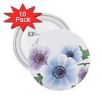 Flower028 2.25  Button (10 pack)