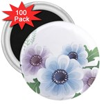 Flower028 3  Magnet (100 pack)