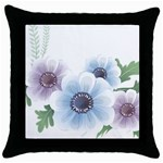 Flower028 Throw Pillow Case (Black)