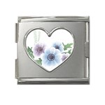 Flower028 Mega Link Heart Italian Charm (18mm)