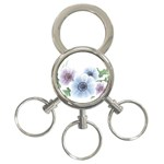 Flower028 3-Ring Key Chain
