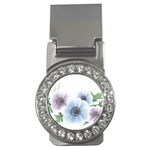 Flower028 Money Clip (CZ)