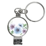 Flower028 Nail Clippers Key Chain