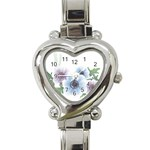 Flower028 Heart Italian Charm Watch
