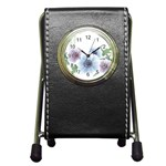 Flower028 Pen Holder Desk Clock