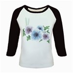 Flower028 Kids Baseball Jersey