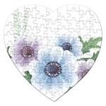 Flower028 Jigsaw Puzzle (Heart)